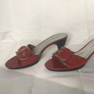 Red Leather Bandolino with Buckle
